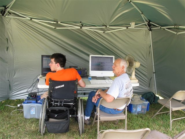 [2012 Field Day Digital Station Tent]