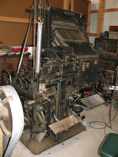 Picture of Intertype Machine