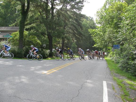 Bike riders in Miller School Road Race 2013