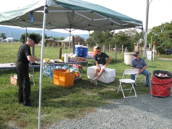 Image of ham radio operators at rest stop