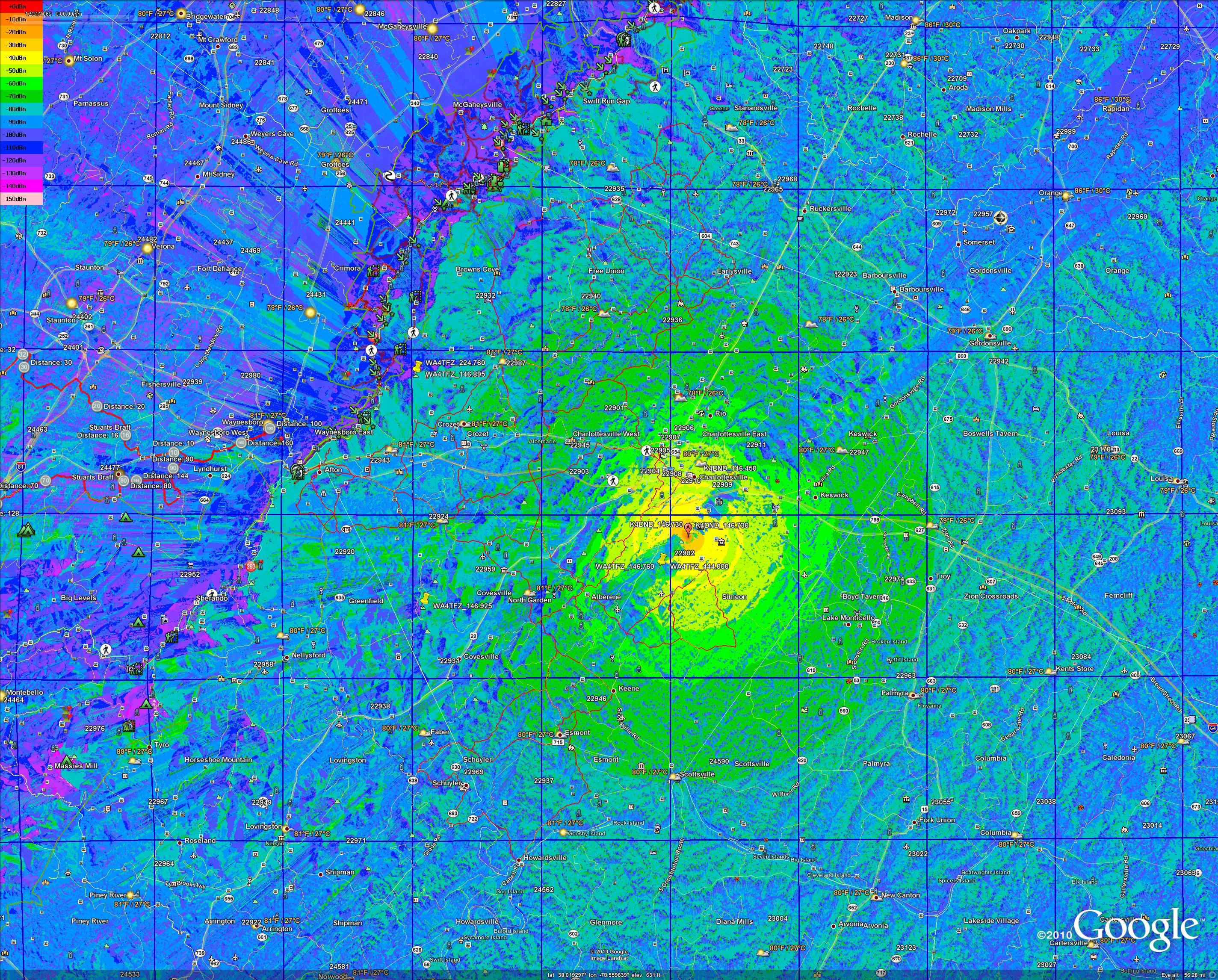 Propagation Signal Strength Map