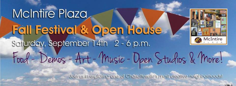 Banner for McIntire Plaza Fall Festival and Open House