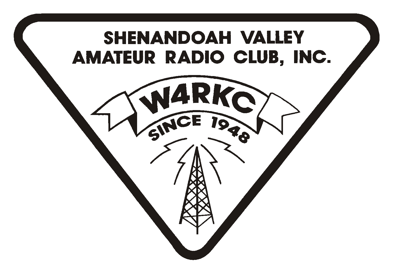 logo: Senandoah Valley Amateur Radio Club, Inc. W4RKC.  Since 1948
