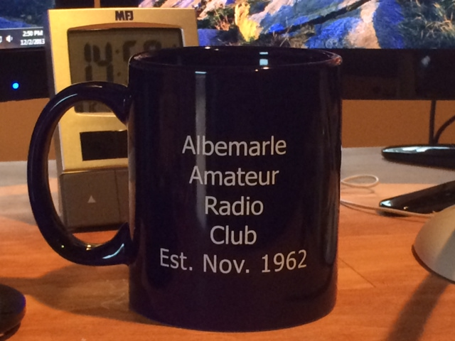 AARC 50th Aniversary Mug: Albemarle Amateur Radio Club Est. Nov. 1962