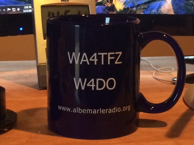 AARC 50th Aniversary Mug: WA4TFZ W4DO www.albemarleradio.org