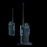 drawing of two walkie talkies